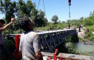 انجام عملیات لاینینگ نهر ورودی و ساخت و نصب خرپا در روستای سده بخش کوچصفهان رشت