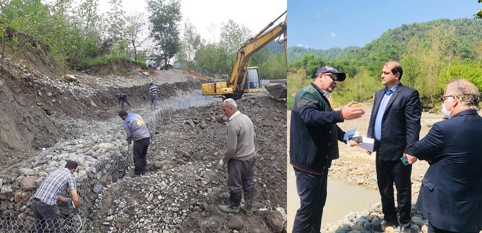 ادامه عملیات ساماندهی رودخانه سیاهمزگی در محدوده سردهنه نهر سونگ شهرستان شفت