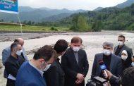 بازدید استاندار گیلان از پروژه نهر سونگ شهرستان شفت در هفته دولت