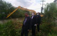 بازدید مدیرعامل شرکت بهره برداری به همراه شهردار خمام از پروژه لایروبی رودخانه شیجانرود